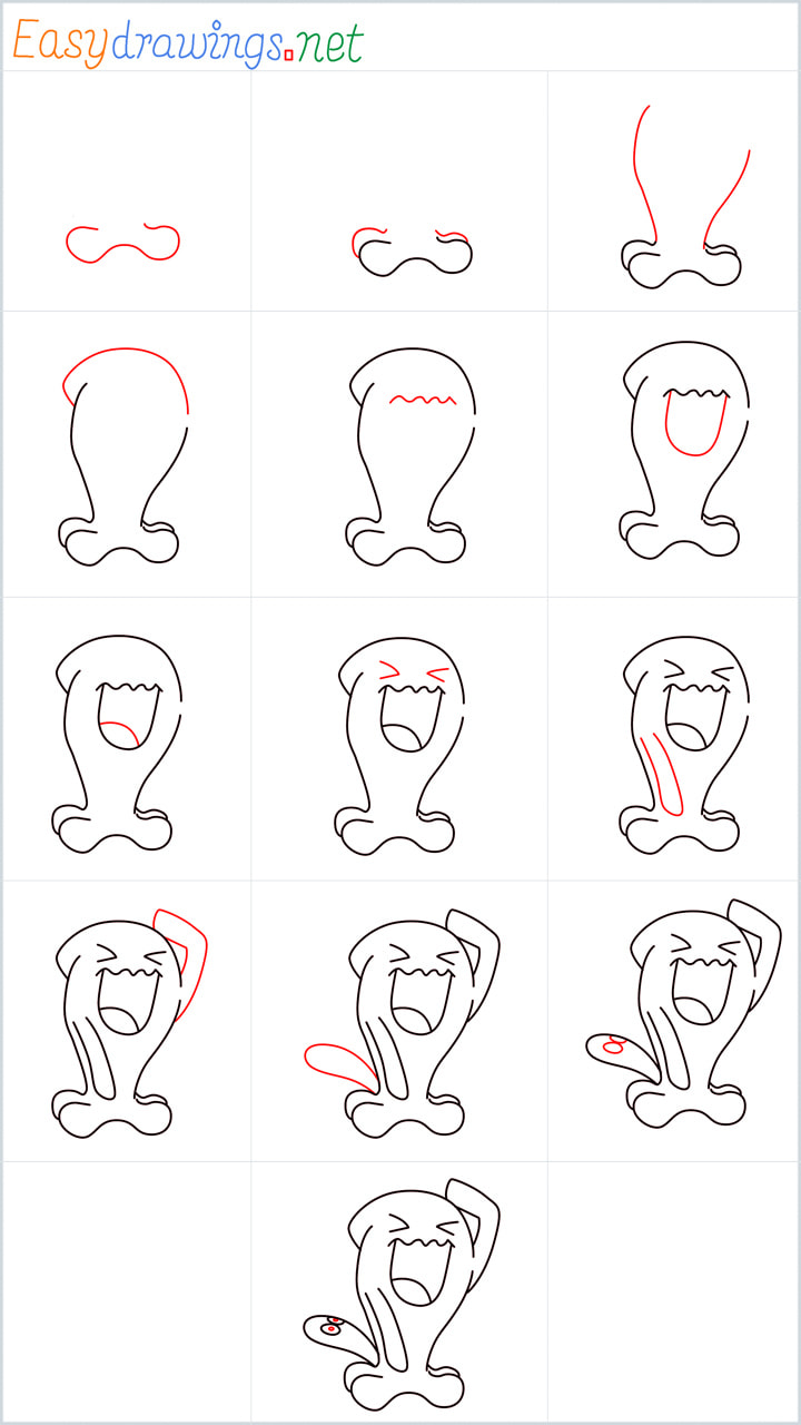 all reference outline drawing in one place for Wobbuffet drawing tutorial
