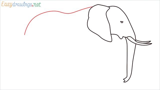 How to draw a elephant step (6)