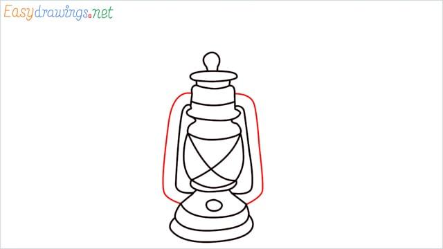 How to draw a lantern step (12)