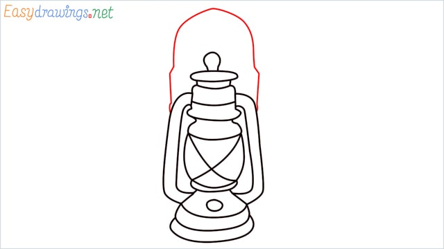 How to draw a lantern step (13)