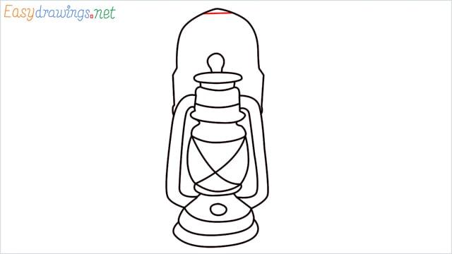 How to draw a lantern step (14)