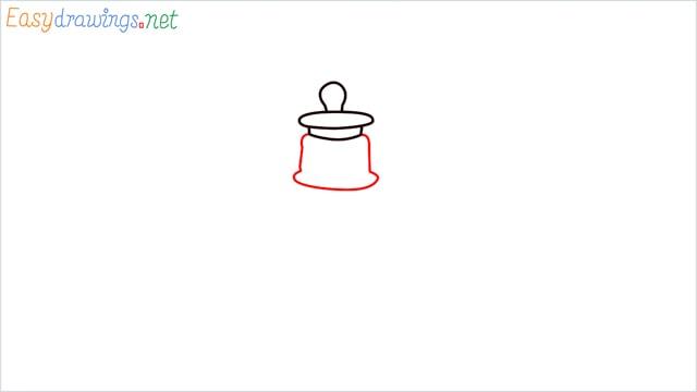How to draw a lantern step (3)