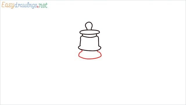 How to draw a lantern step (4)