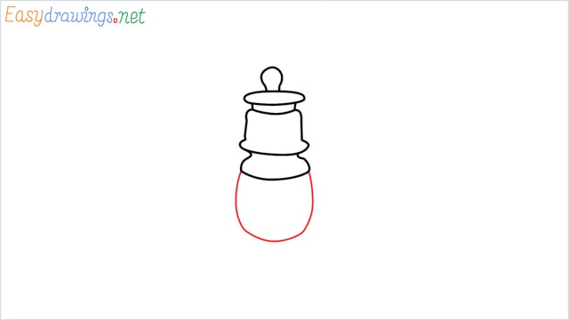 How to draw a lantern step (5)