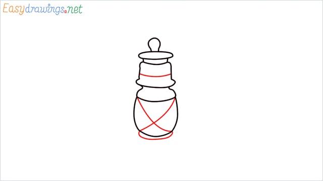 How to draw a lantern step (6)