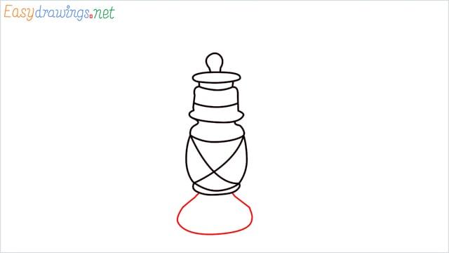 How to draw a lantern step (7)