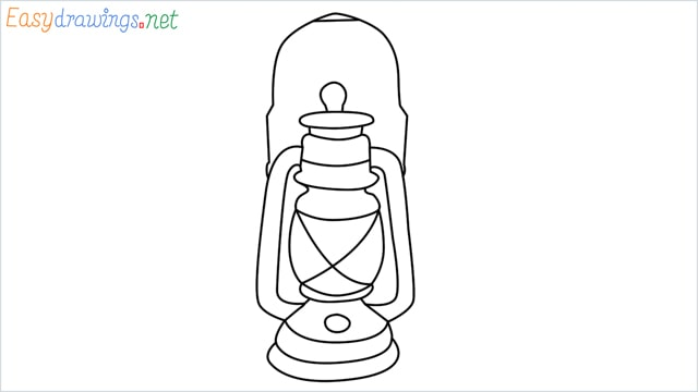 How to draw a lantern step by step for beginners