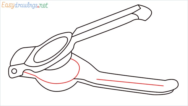 How to draw a lemon squeezer step (10)