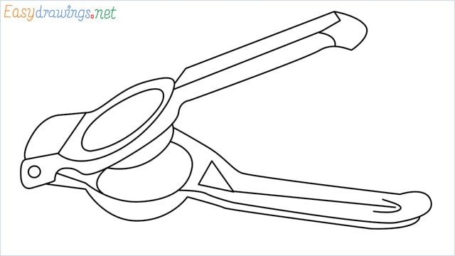 How to draw a lemon squeezer step by step for beginners
