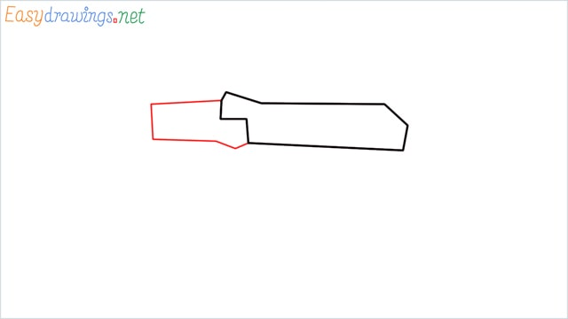 How to drawing a ak 47 step (2)
