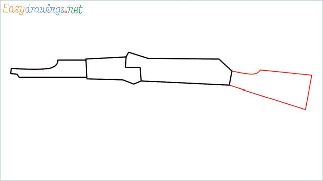 How to drawing a ak 47 step (4)