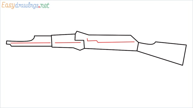 How to drawing a ak 47 step (5)