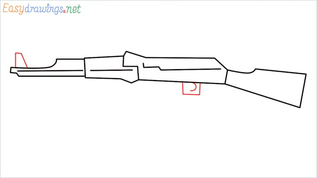 How to drawing a ak 47 step (6)