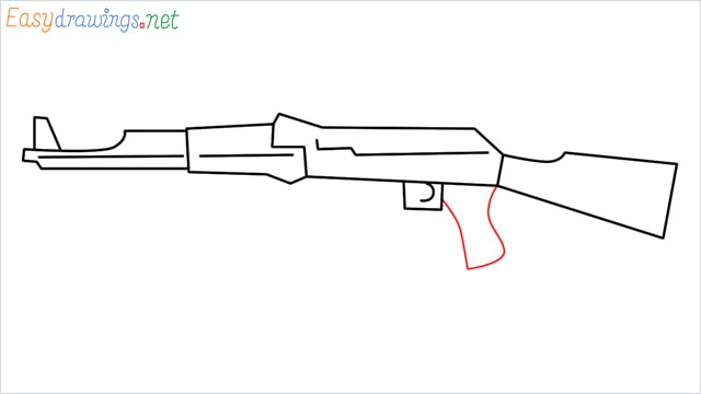 How to drawing a ak 47 step (7)