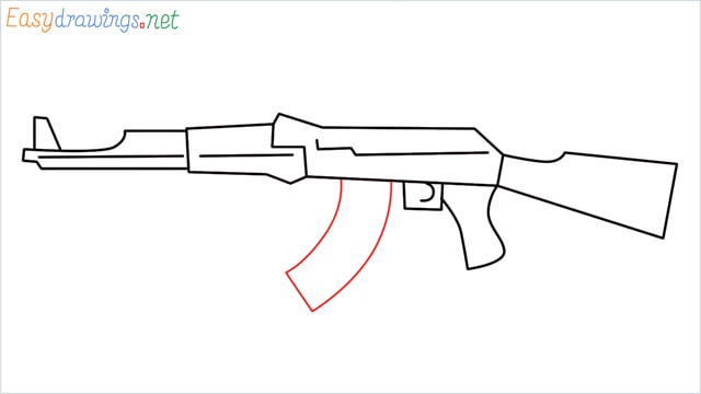 How to drawing a ak 47 step (8)