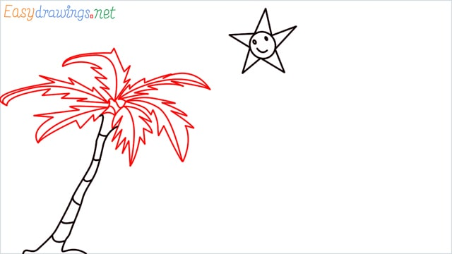 How to drawing a scenery for kindergarten step (5)