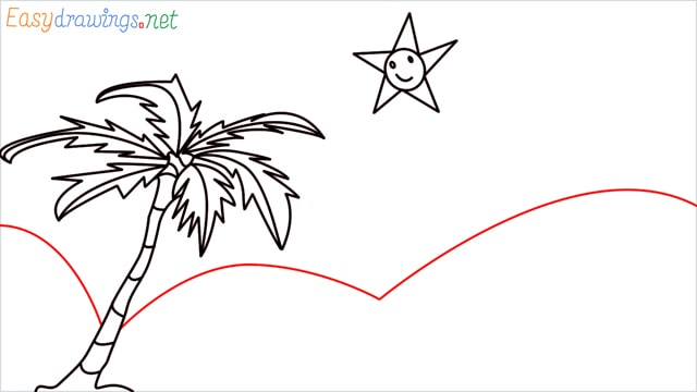How to drawing a scenery for kindergarten step (6)