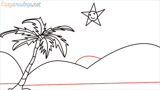 How to drawing a scenery for kindergarten step (7)