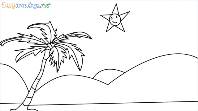 How to drawing a scenery for kindergarten step by step for beginners