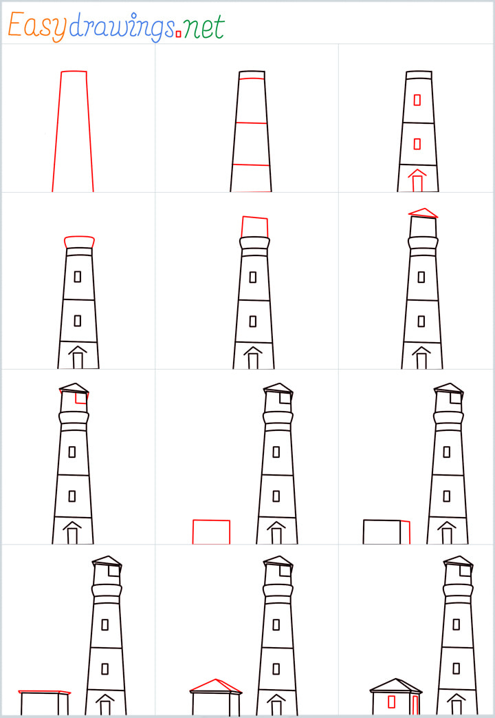 Overview for Lighthouse drawing all steps in one place