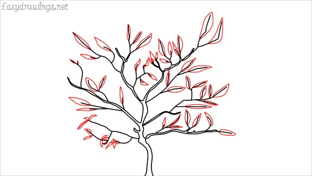 how to draw a apple tree step (5)