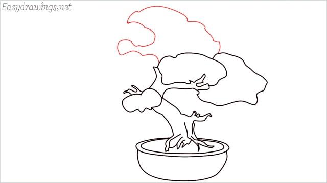 how to draw a bonsai tree step (10)