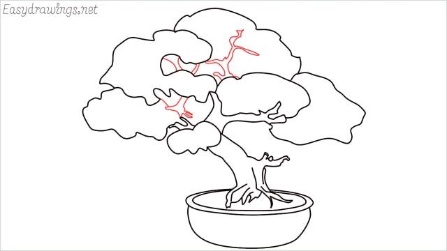 how to draw a bonsai tree step (13)