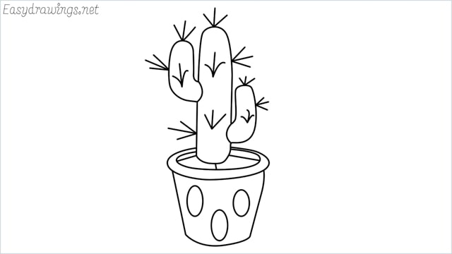 how to draw a cactus drawing step by step for beginners