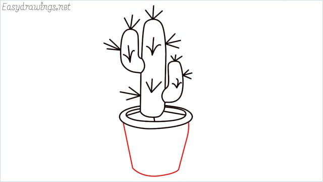 how to draw a cactus step (10)