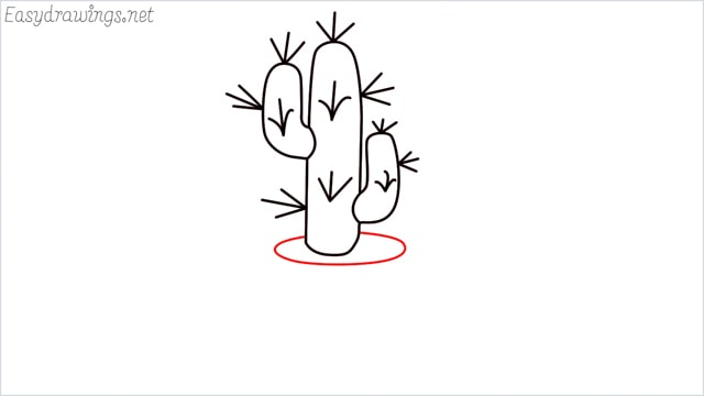 how to draw a cactus step (7)
