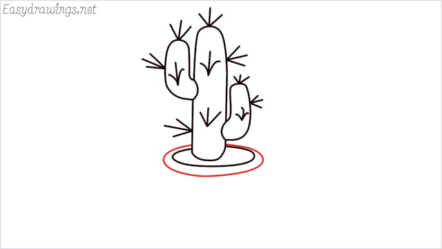 how to draw a cactus step (8)