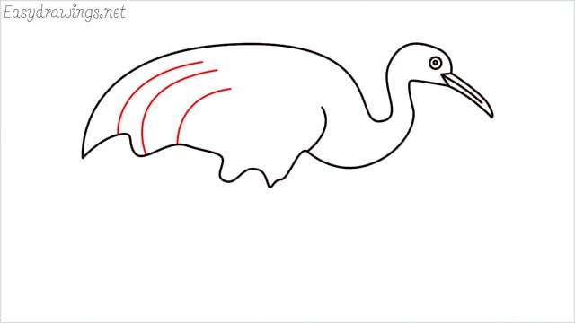 how to draw a crane step (7)