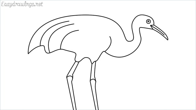 how to draw a crane step by step for beginners