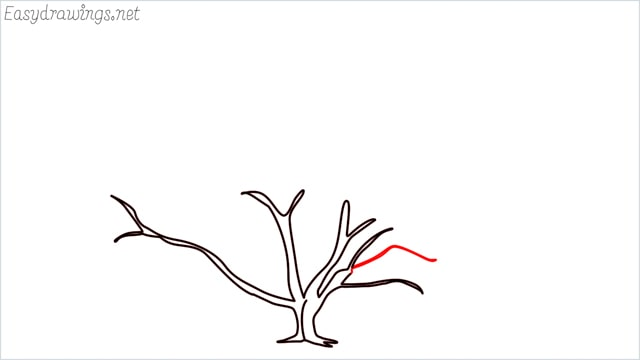 how to draw a fall tree step (15)