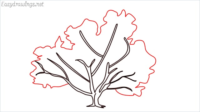 how to draw a fall tree step (22)
