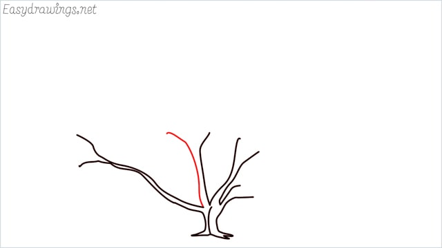how to draw a fall tree step (9)