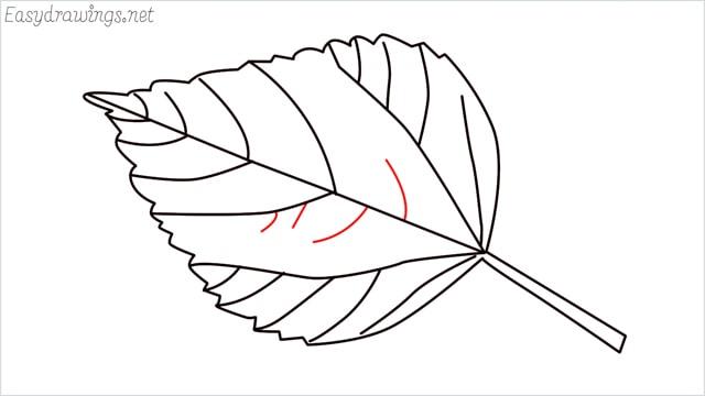 how to draw a leaf step (10)