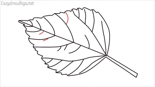 how to draw a leaf step (11)