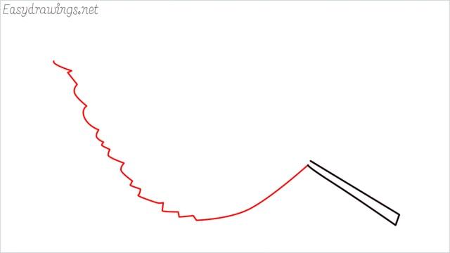how to draw a leaf step (3)