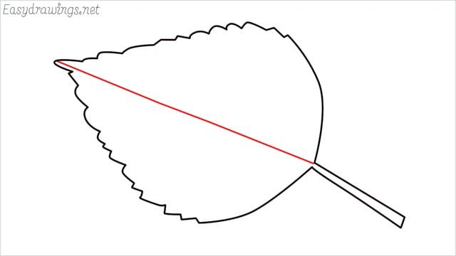 how to draw a leaf step (5)