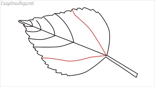 how to draw a leaf step (8)