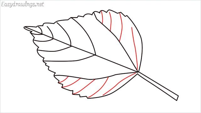how to draw a leaf step (9)