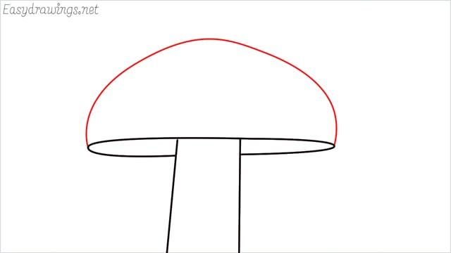 how to draw a mushroom step (4)