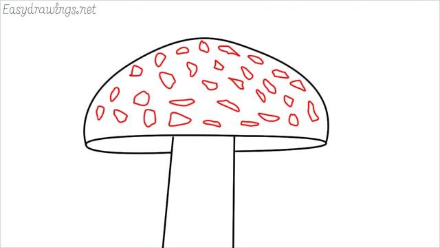 how to draw a mushroom step (5)