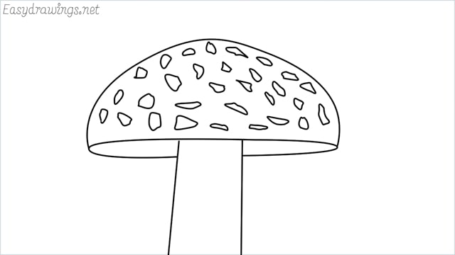 how to draw a mushroom step by step for beginners