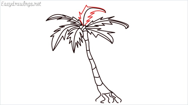 how to draw a palm tree step (11)