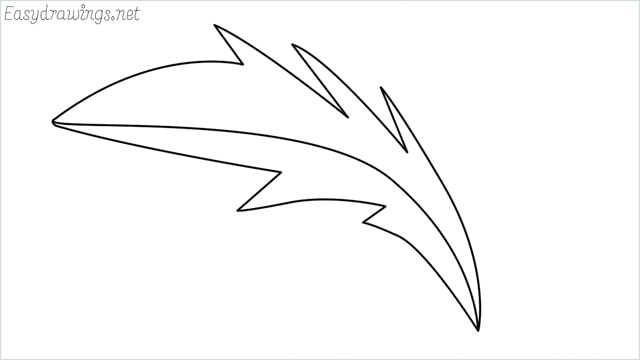 how to draw a simple leaves drawing step by step for beginners