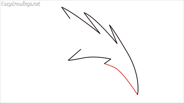how to draw a simple leaves step (10)