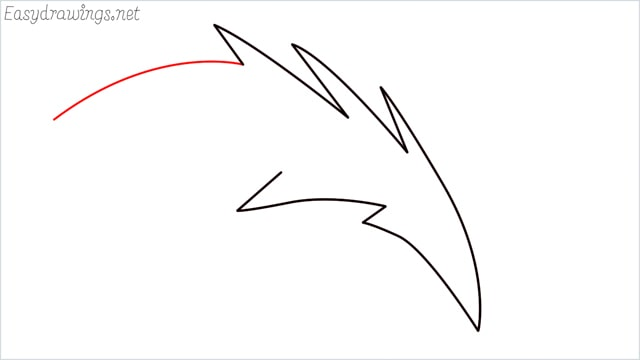 how to draw a simple leaves step (11)