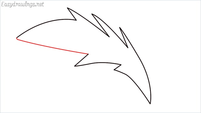 how to draw a simple leaves step (12)
